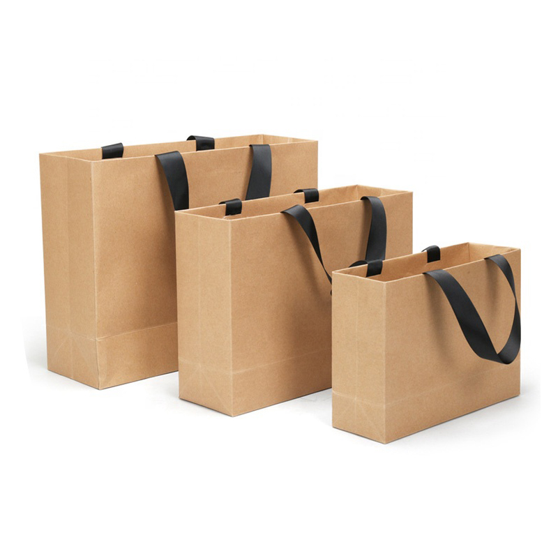 white paper gift bags with ribbon handles