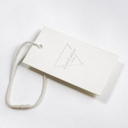 white paper printing hang tag for clothing tag