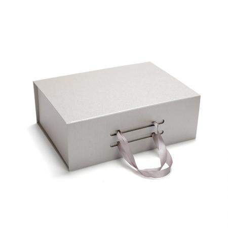 Rigid Folding Gift Box with Ribbon