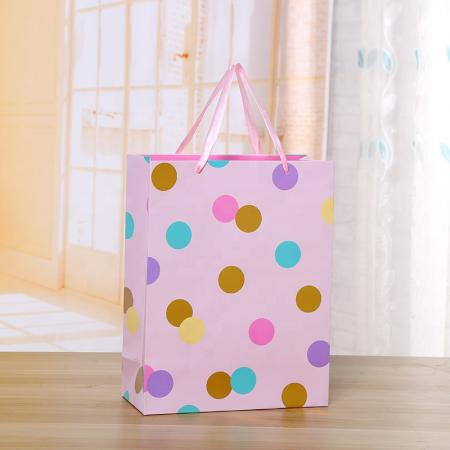 Recycled Colorful Art Paper shopping gift Bags For Clothing Food packaging