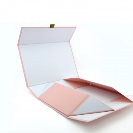 Custom clothing packaging folding gift box with ribbon