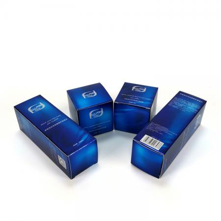 One-stop service Luxury blue cosmetic packaging paper gift box set