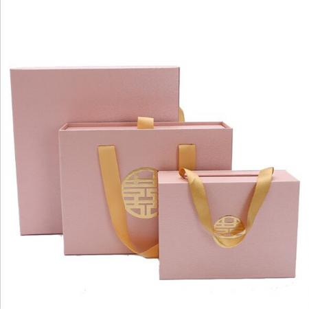 Folding Makeup Beautiful Gift Box With Ribbon Tie wholesale